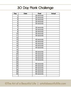 The 52 best 30 Day Plank Challenge images on Pinterest in ...