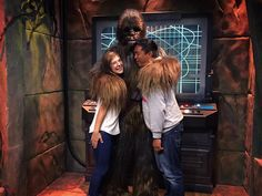 Wookiees give the best hugs  Pure happiness on the faces of these two big kids!! #Disney #DisneyLand #California #starwars #tomorrowland #chewbacca #wookiee #hugs by rebeccalauryn