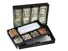 20% cut off Master Lock 7147D Combination Locking Cash Box With 6 Compartment Tray