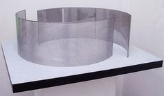 <p>2 Semi Circles, 1999-2000. </p> 								<p>two-way mirror and stainless steel on wood plate. </p> 								<p>Edition of 3. Model: 11.8 x 33.5 x 35 in. Platte: 36 x 42 1/8 x 2 1/2 in.</p>
