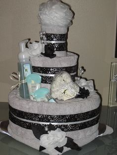 Sea Cotton Silver Towel Cake  by Caketini, via Flickr
