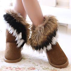 winter warm high long snow boots artificial fox rabbit fur leather tassel women's shoes,size Closure Type:Zip, Medium(B,M) Upper Material Leather Leather Style:Soft Leather Closure Type:Slip-On Boot Height:Mid-Calf Toe Shape:Round Toe Heel Height:Flat to Over Boots, Slip On Boots, Shoe Boots, Women's Shoes, Flat Boots, Ankle Boots, Fuzzy Boots, Ugg Boots, Leather Tassel