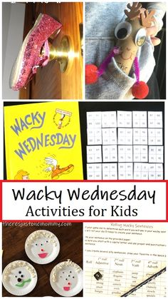 wacky activities to go with the Dr Seuss Wacky Wednesday book, perfect for Dr. Seuss Week or the start of the school year #DrSeussWeek #DrSeussActivities #WackyWednesday