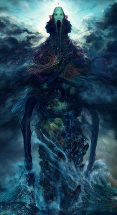 poseidon's wrath, Tsad De Lira on ArtStation at https://www.artstation.com/artwork/xN1KW