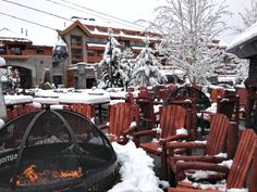 Warm up by the fire pit at Marriott's Timber Lodge! Marriott Vacation Club, Vacation Resorts, Winter Vacations, South Lake Tahoe, Fire, Winter Holidays, Vacation Spots, Resorts, Spring Break