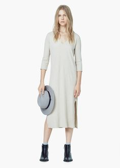 Ribbed long dress -  Women | MANGO