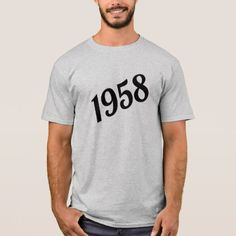 1958 Happy 60th Birthday T-Shirt - diy individual customized design unique ideas