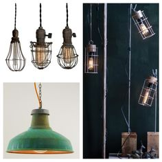 Trend Alert: Industrial Chic Lighting......would love LOVE these kind of lights for my room....