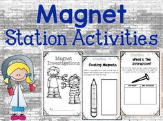 Your students will love this FREE magnet station activities booklet! This is a fun way to cover a lot of content when teaching magnets in a hands-on way! Science Curriculum, Kindergarten Science, Science Worksheets, Elementary Science, Science Classroom, Science Lessons, Teaching Science, Science Activities, Science Ideas