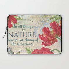 #nature #watercolor #colorful #flowers #floral #woman #girly #pretty #shabby #spring #summer available in different #homedecor products. Check more at society6.com/julianarw #laptopsleeve