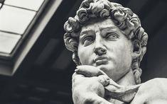 壁紙をダウンロードする ルネッサンス, ミケランジェロ, 彫刻, David, フィレンツェ, 像, イタリア, 大理石の彫像