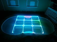 MOD NC-200PESP. Modules specially designed to cover pools, but can be used anytime. Fully transparent, with support frames and sills in aluminum, 12 mm tempered glass, LED perimeter lighting, automatic programs, without control. intelligent LED lighting 27 CH DMX. #led dance floor #lighted floor #smart led #party led #dancefloor light #led floor #led events #pistas iluminadas #pista de baile led #pistas luminosas #ness pistas #ness technology Led Dance, Light Led, Hard Rock, Flooring, Glass, Design, See Through, Dance Floors, Drinkware