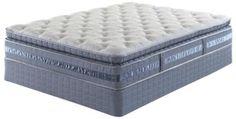Serta Darrington Super Pillow Top Queen Mattress Set