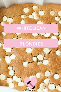 Healthy Clean Eating White Blondies made from white beans! Perfect for indulgence! Healthy Baking, Healthy Desserts, Healthy Recipes, Yummy Recipes, Advocare Recipes, Paleo Ideas, Ww Desserts, Nutritious Snacks, Yummy Food