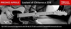 Lezioni di chitarra in promozione a 25 euro l'una