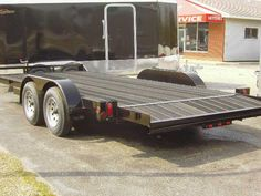 Rumber - Recycled Rubber made into planks that you deck equipment trailers and many other commercial and industrial applications Car Hauler Trailer, Trailer Plans, Toy Hauler, Camper Trailers, Boat Bed, Gooseneck Trailer, Train Car, Boat Plans, Classic Mini