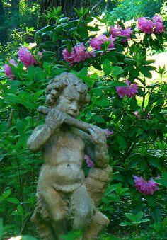 Faun in Our Woodland Garden