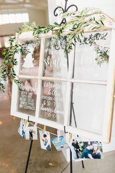 Featured Photographer: dV Photography Houston; wedding day timeline display idea