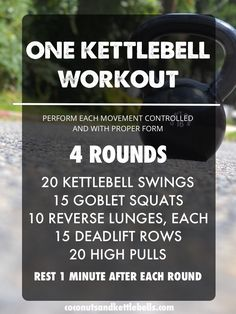 One Kettlebell Workout - Coconuts & Kettlebells