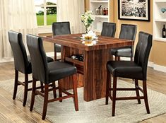 Furniture of America Kona 7-Piece Contemporary Pub Dining Set * Read more info by clicking the link on the image. #FurnitureDesign