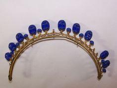 Rare antique diademe to scarabees tiara comb crown jewel egyptomania | Art, antiquités, Objets du XIXe et avant | eBay!
