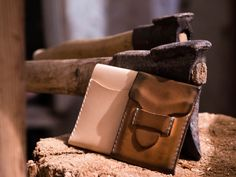 Awesome hand made natural leather wallet from SummitCreekDryGoods at Etsy.com