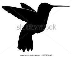 silhouette tattoos   Silhouette Of Hummingbird Stock Vector 40073692 : Shutterstock