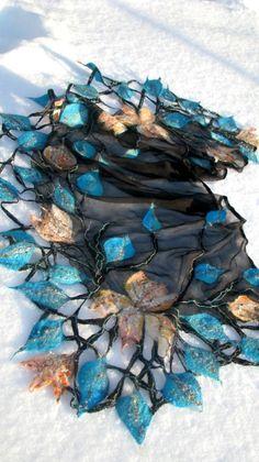Nuno felted scarf MARINA by FfeltT on Etsy