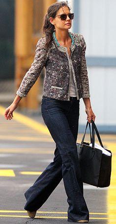 Katie Holmes, I want your tweed jacket