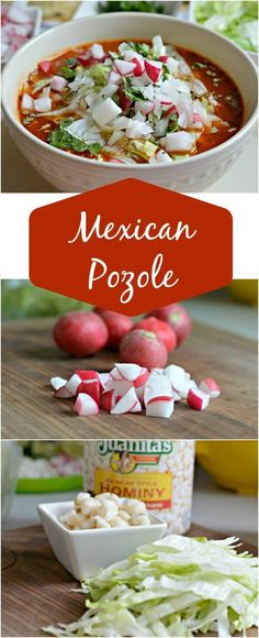 Mexican Pozole is a delicious Mexican soup that is served at all major events. Mexican Pozole is a delicious Mexican soup that is served at all major events. The flavors are perf Bean Recipes, Soup Recipes, Dinner Recipes, Cooking Recipes, Cake Recipes, Cooking Tips, Hominy Recipes, Freezer Recipes, Freezer Cooking