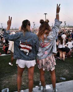See Want Shop Blogger Lisa Hamilton   Coachella 17' personalised denim jacket  