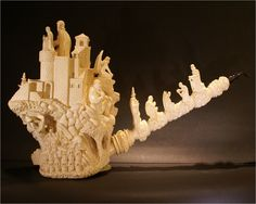 Meerschaum pipe.   Dude,  This one is AWESOME.                                                                                                                                                                                 More