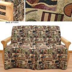 Hip Hop Skirted Futon Slipcover