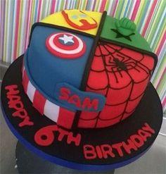 The harrop cake company - boys birthday cakes (cake boy) avengers birthday cakes, Avengers Birthday Cakes, Superhero Birthday Cake, Rainbow Birthday, Boy Birthday, Superhero Party, Cake Rainbow, Birthday Ideas, Pastel Marvel, Pastel Avengers