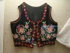 Hungary, Somogy county, embroidered vest