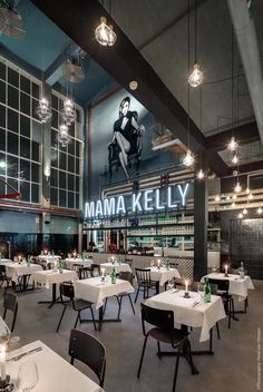 MaMa Kelly The Hague (Netherlands). Design by Rein Rambaldo (De Horeca Fabriek) www.dehorecafabriek.nl