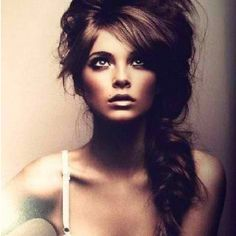 Messy long hair up style