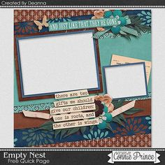 FREE Empty Nest Quick Page Freebie By Deanna from Connie Prince