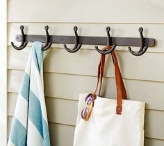 Anchor Row of Hooks #potterybarn, located to the right of the baby changing station