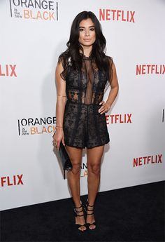 Diane Guerrero wearing an Alexis Milly Sleeveless Floral-embroidered A-line Dress https://api.shopstyle.com/action/apiVisitRetailer?id=511988301&pid=uid7729-3100527-84. #style #celebstyle