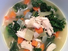 Chicken, Veggie and Kale Soup   Advocare 24 Day Challenge Meal Journal