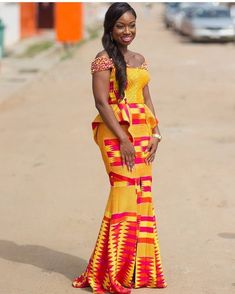 Hey Guys, We have selected some of the finest Kente styles that can fit your personality. Every one of us is a boss chic depending how we look at what we do. Kente fabrics are not new local fabric… Latest African Fashion Dresses, African Print Dresses, African Print Fashion, Africa Fashion, African Dress, African Prints, Men's Fashion, African Attire, African Wear