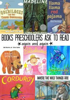 List of books preschoolers love! These 11 books are all classics kids love to read over and over!