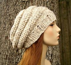 Knit Hat Womens Hat  Original Beehive Beret Hat in by pixiebell