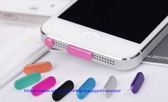 Crystal Anti dust Dock Plug Cover Home Button Sticker date plug for iPhone 5 5G 4 4S on Etsy, $4.99