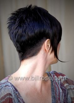 Nice short nape with this long wispy style