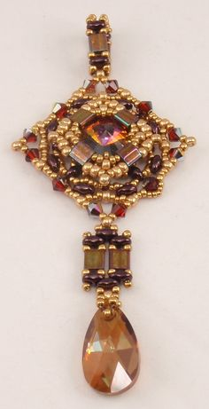 Instructions for Marrakech Pendant Beading by njdesigns1 on Etsy