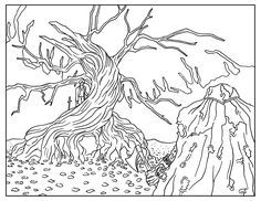 Sleepy Hollow | Tim Burton Coloring Book [free printable adult coloring book pages]