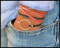 BOHO Wrap Bracelet Silver Hammered INFINITY by WrappedinYou