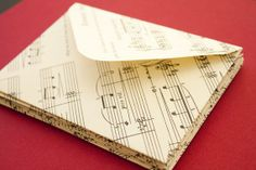 Set of 10 Handmade Music Envelopes - Medium